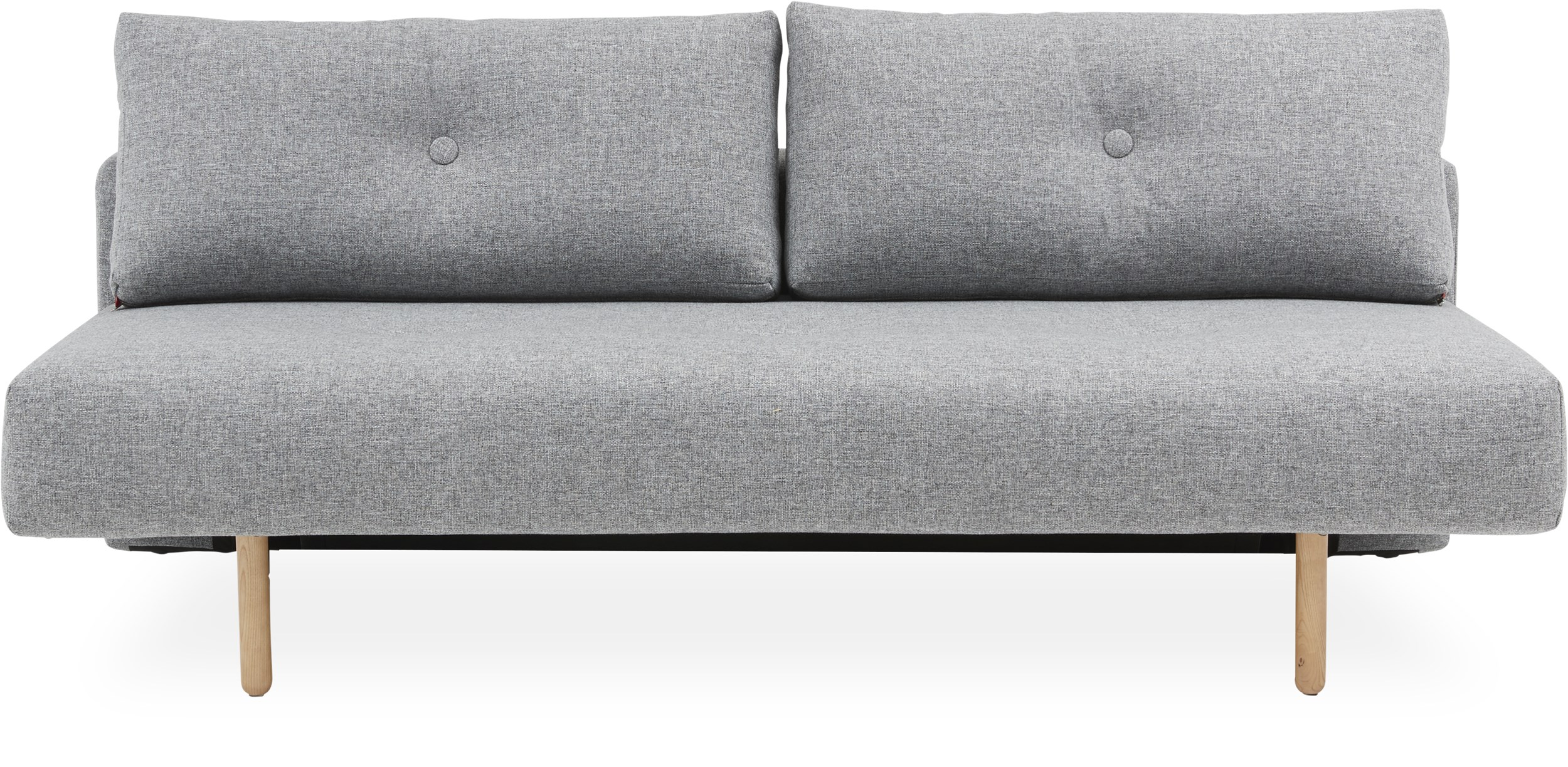 Innovation Living - Thora luxus Sovesofa - Twist 565 Granite, pocketspring/hypersoft skummadras og stem ben i lyst træ