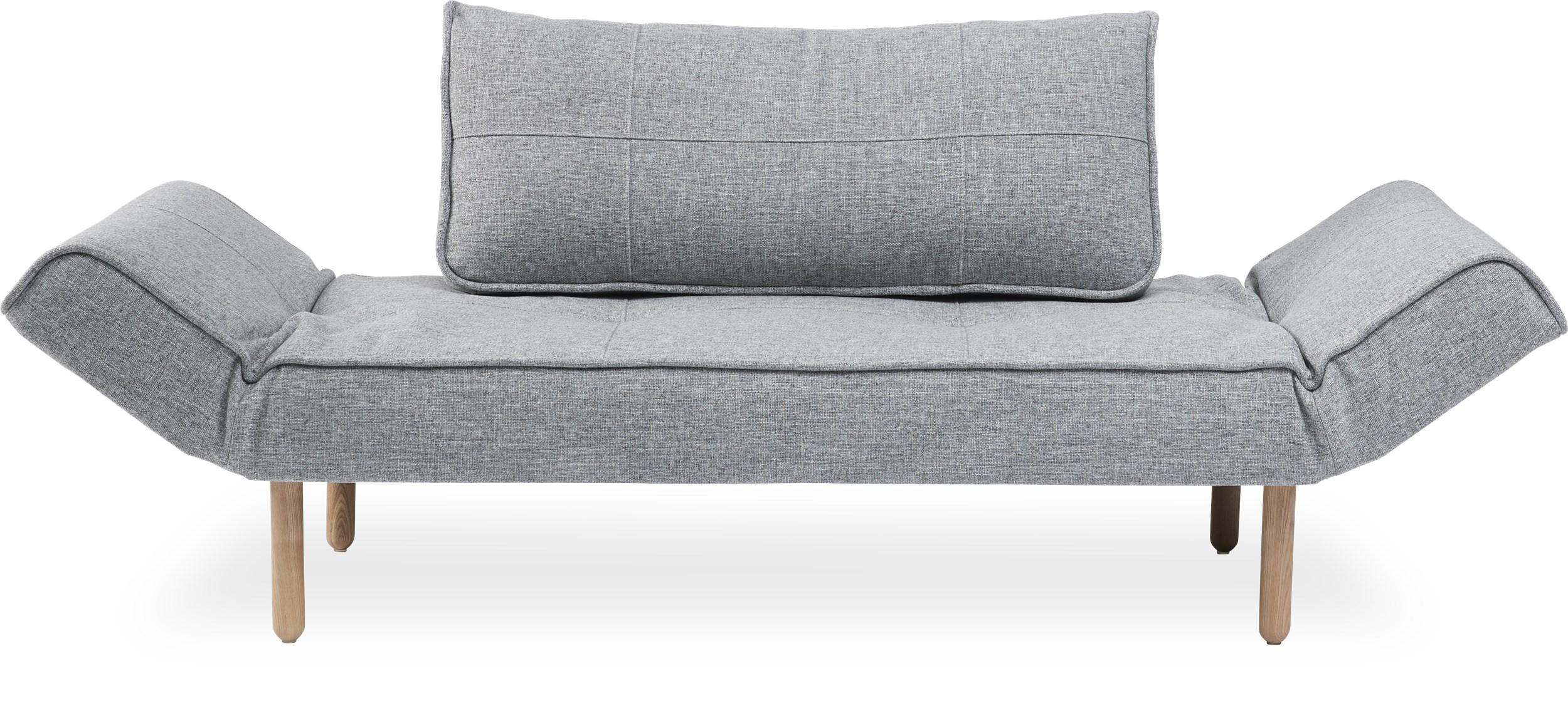 Innovation Living - Zeal Sovesofa - Twist 565 Granite og Stem ben i lyst træ
