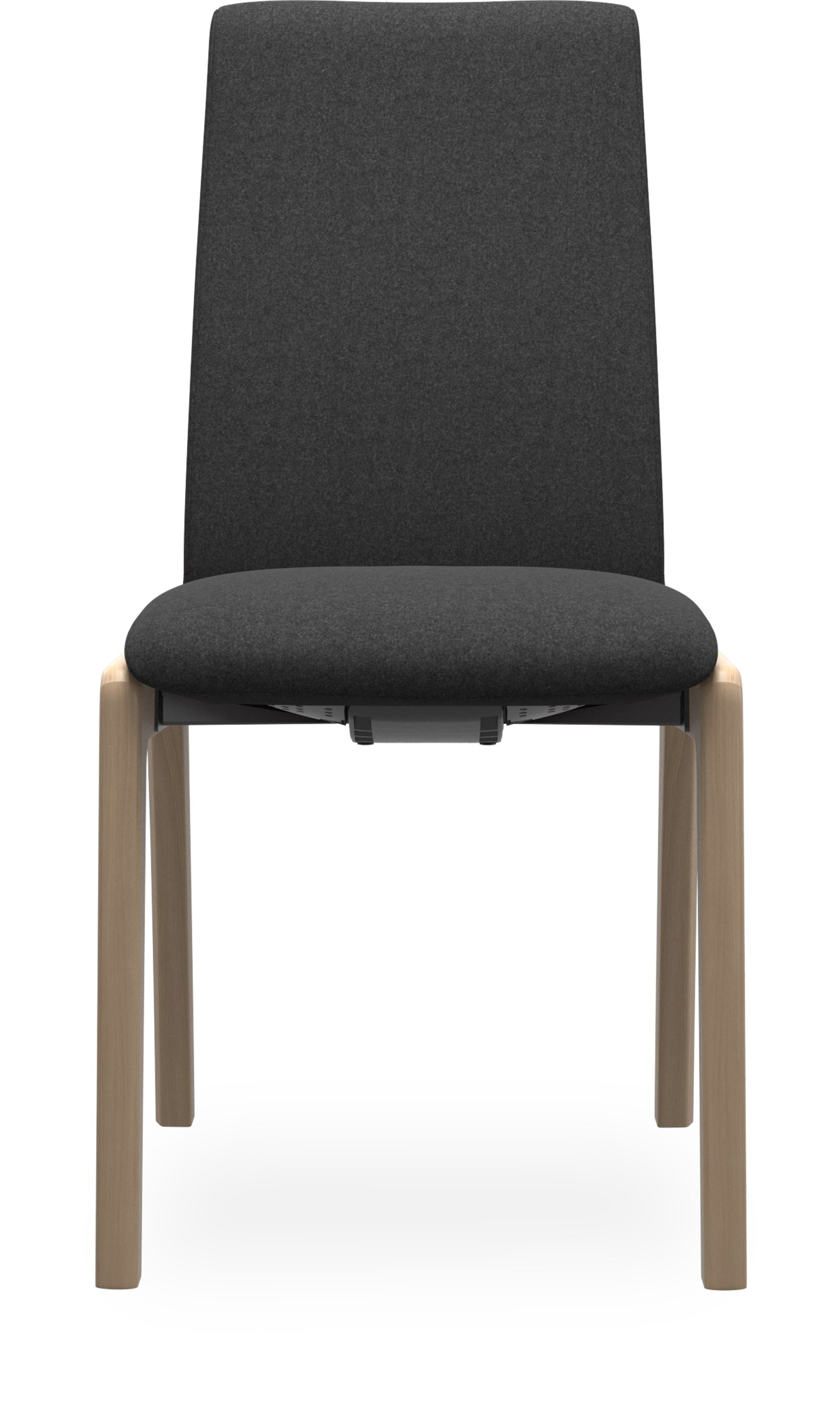 Stressless M D100 Laurel low Spisebordsstol - Calido 579-16 Dark Grey stof og stel i lakeret, massiv eg