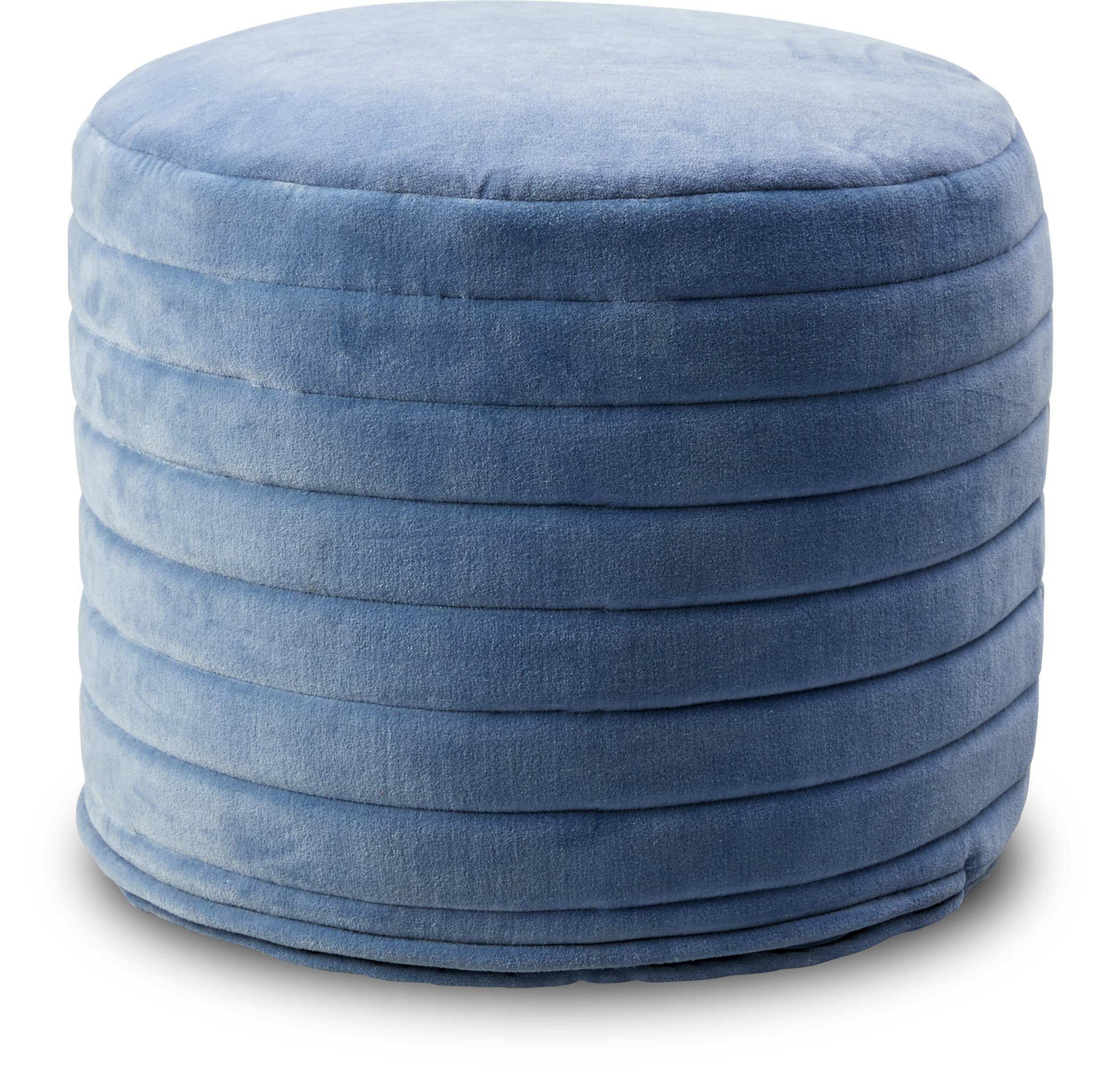 Sigurd Puf - Ashley blue bomuldsvelour