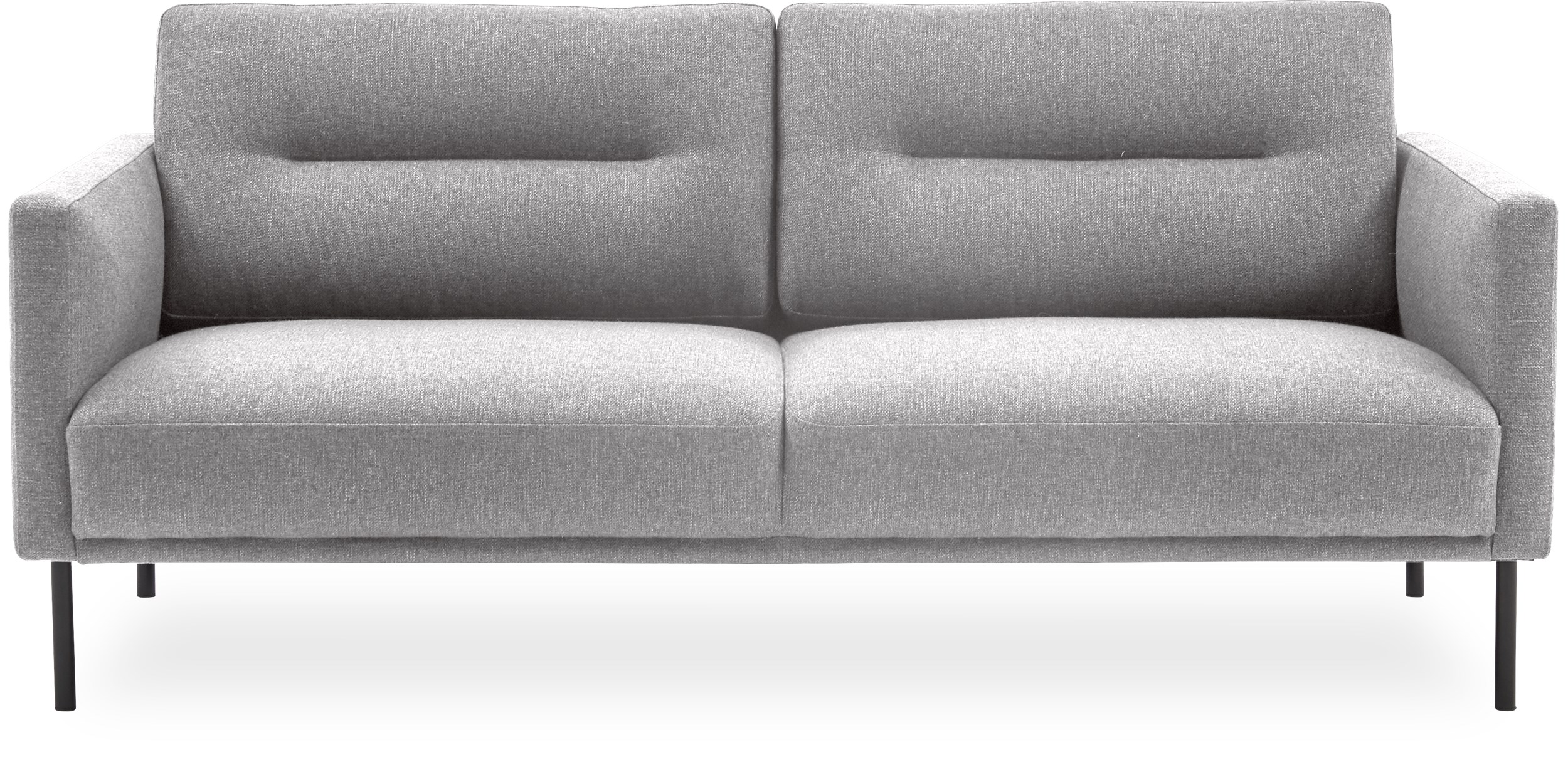 Larvik 2½ pers. Sofa - Hampton 372 Light grey stof og ben i sortlakeret metal