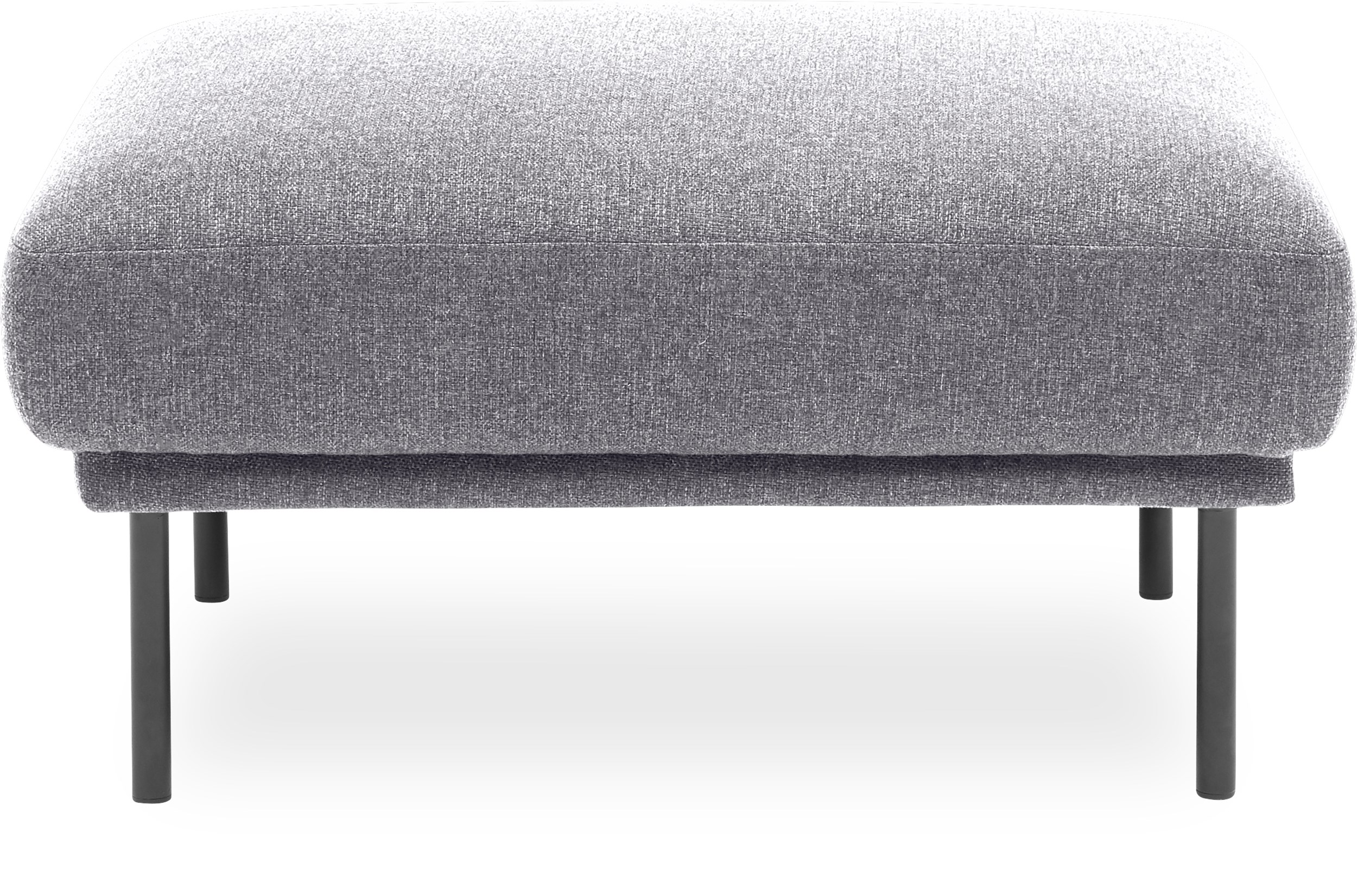 Larvik Sofa puf - Hampton 372 Light grey stof og ben i sortlakeret metal