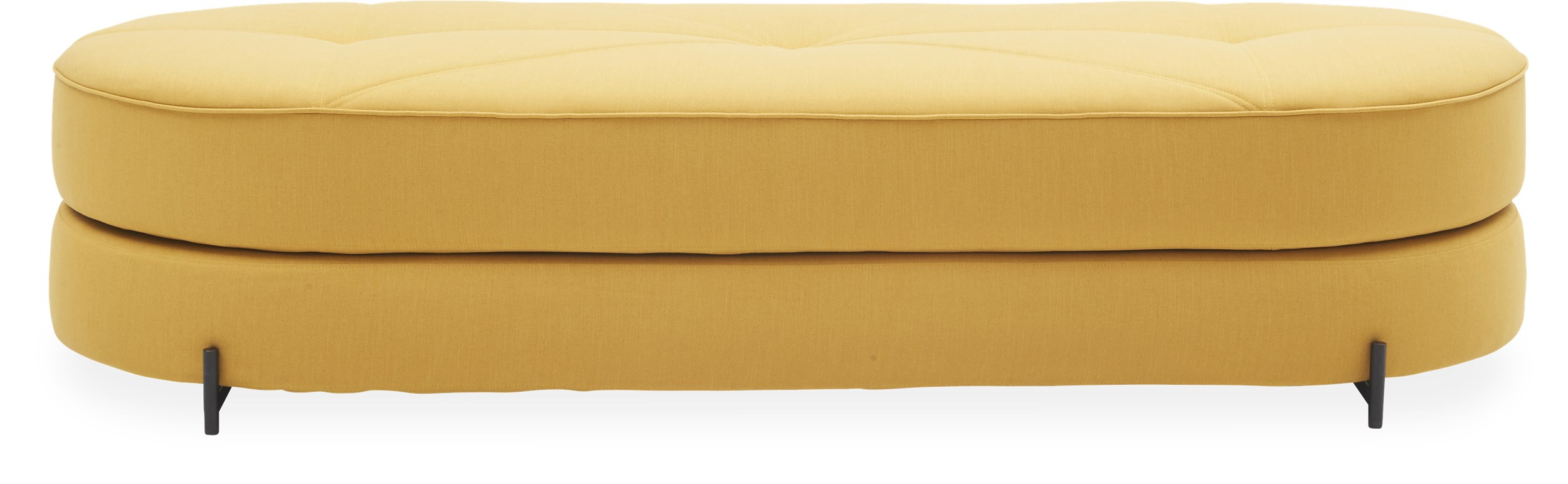 Innovation Living - Wilfred Sovesofa - Mustard Yellow 501 stof, pocketspring madras og ben i sort metal