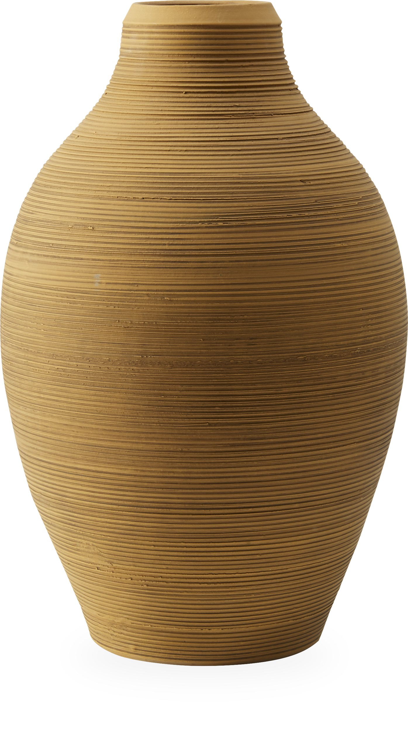 Gordo Vase 50 x 31 cm - Mustard yellow terracotta