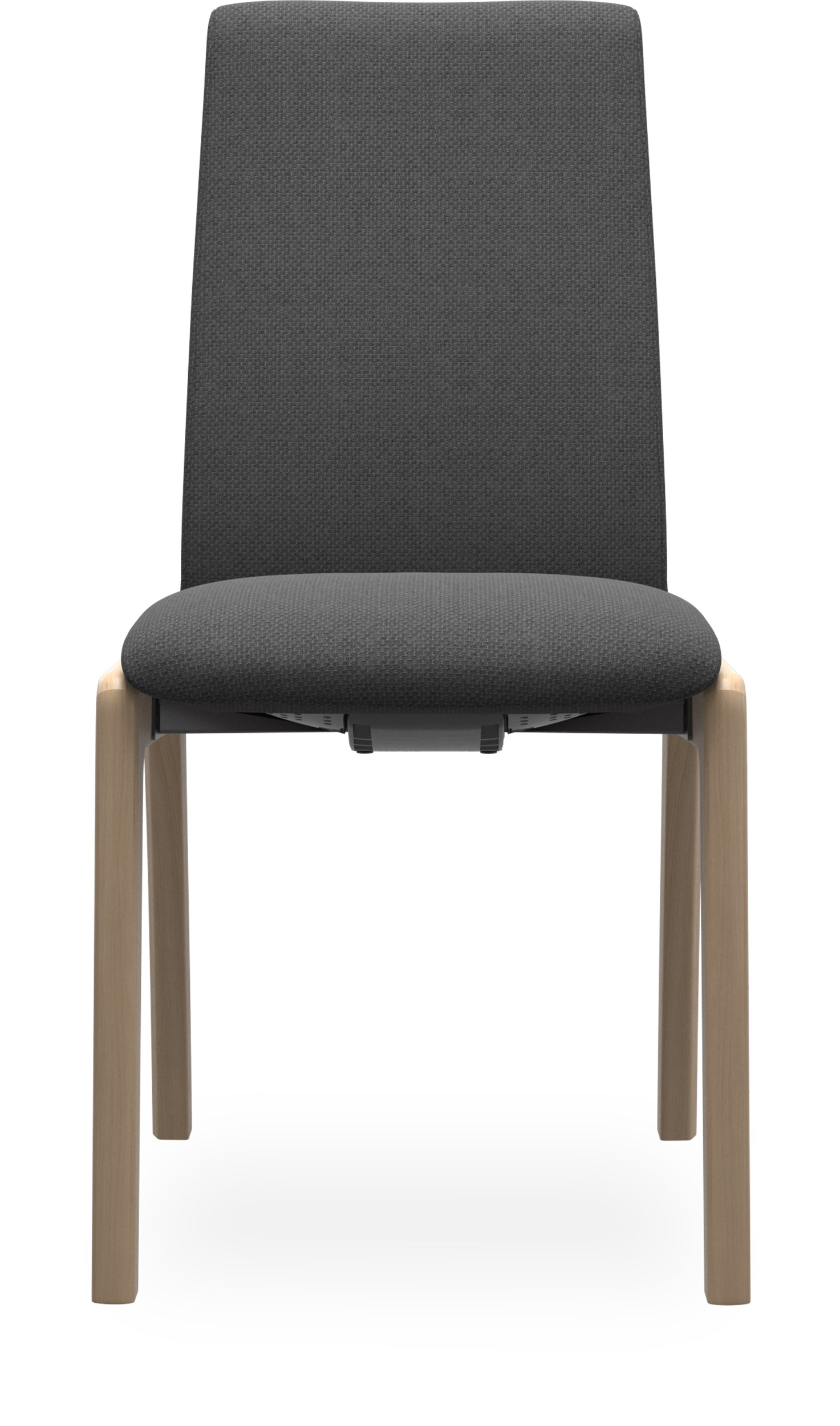 Stressless M D100 Laurel low Spisebordsstol - Ivy 593-16 Dark Grey stof og stel i lakeret, massiv eg