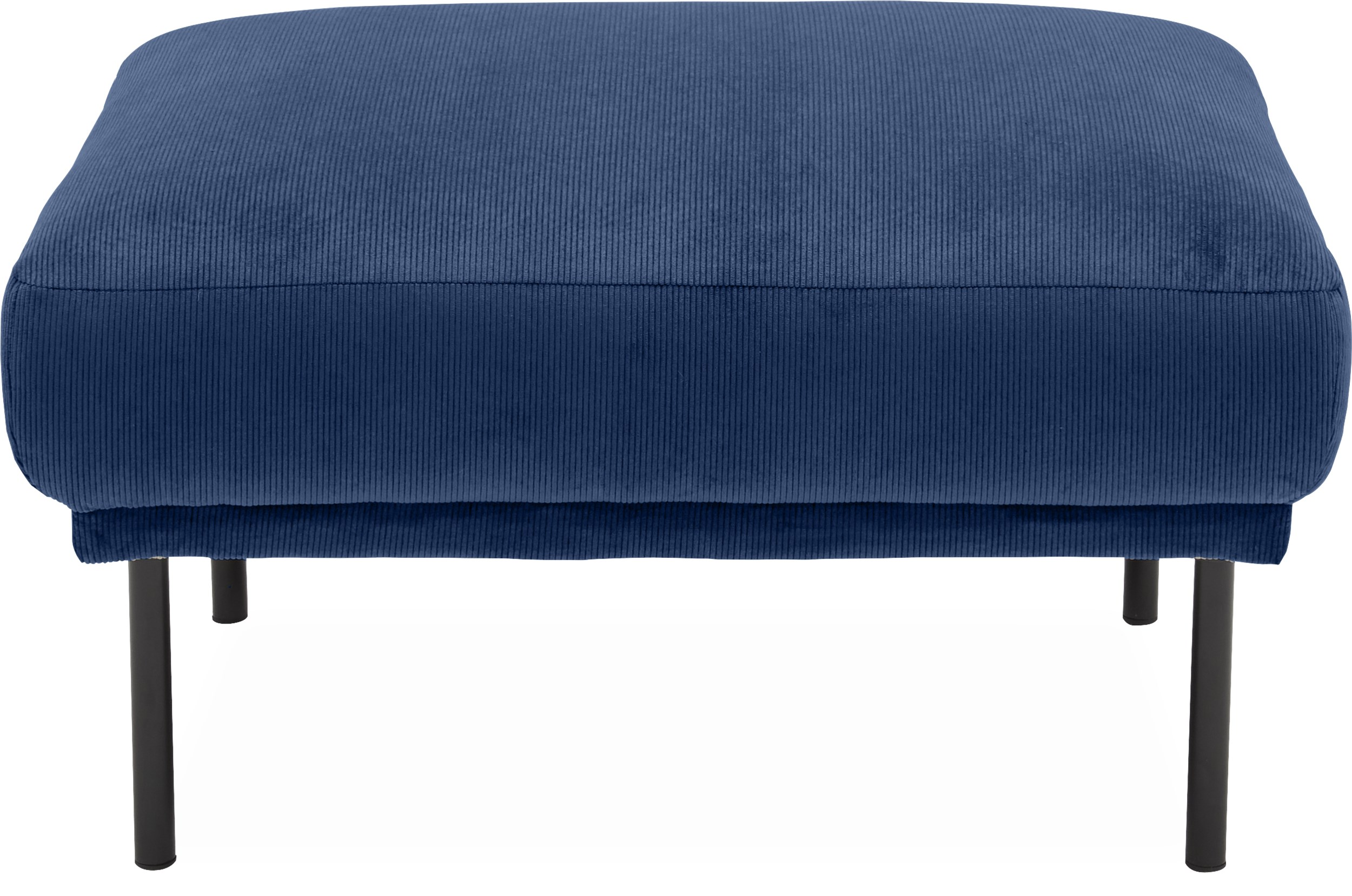 Larvik Sofa puf - Wave 220 Royal blue stof og ben i sortlakeret metal