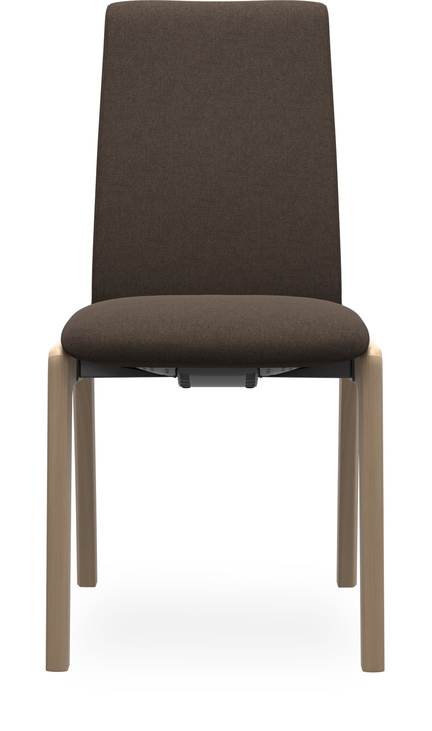 Stressless M D100 Laurel low Spisebordsstol - Calido 579-86 Brown stof og stel i lakeret, massiv eg