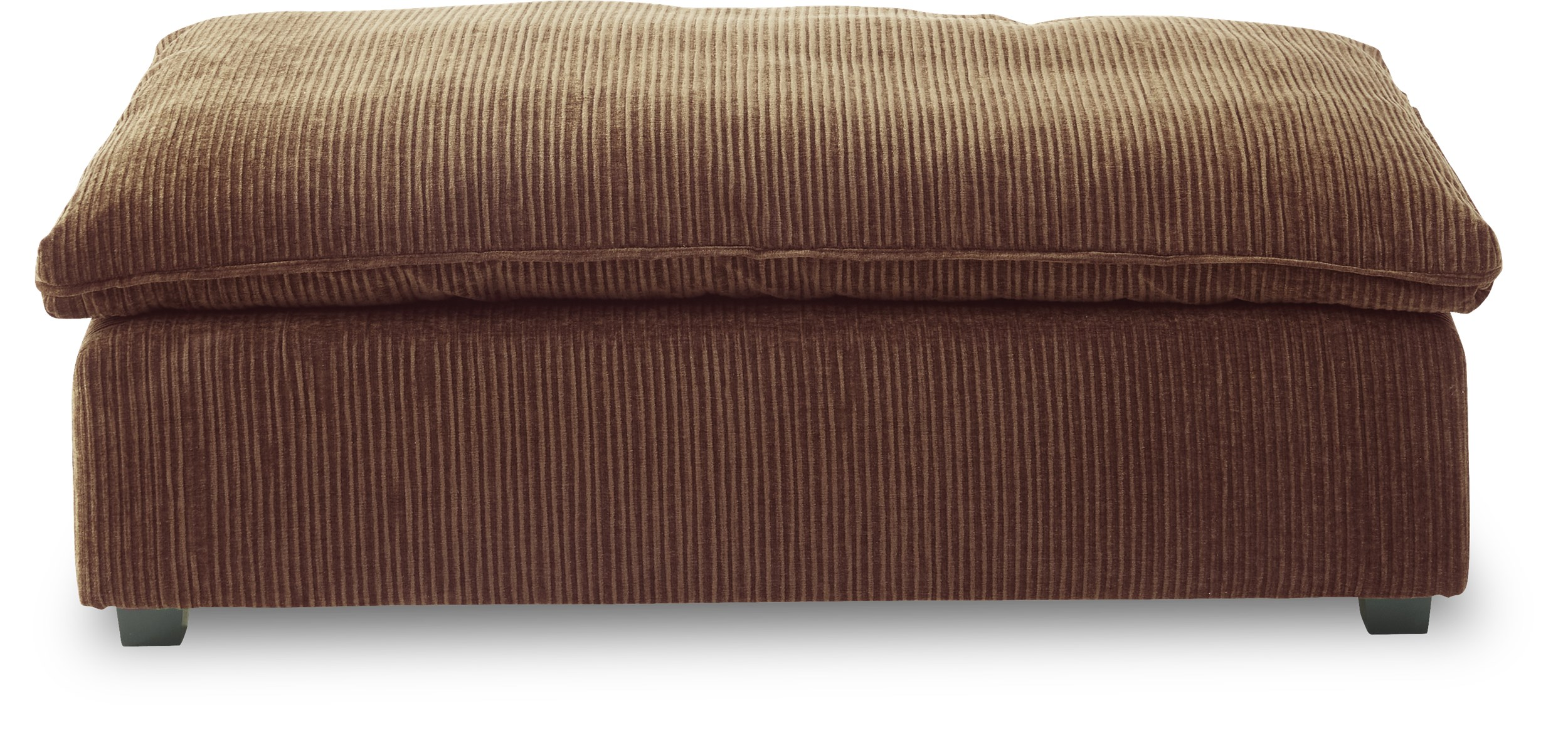 Heaven Sofa puf - Diamond 1126 Brown stof og ben i sortmalet træ