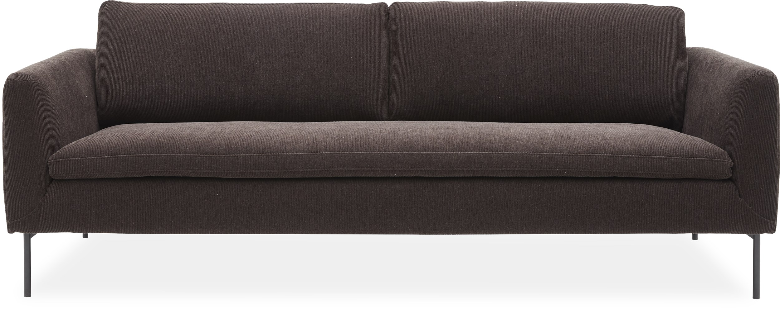 Farris Lux 3 pers Sofa - Moss 4 D. brown stof