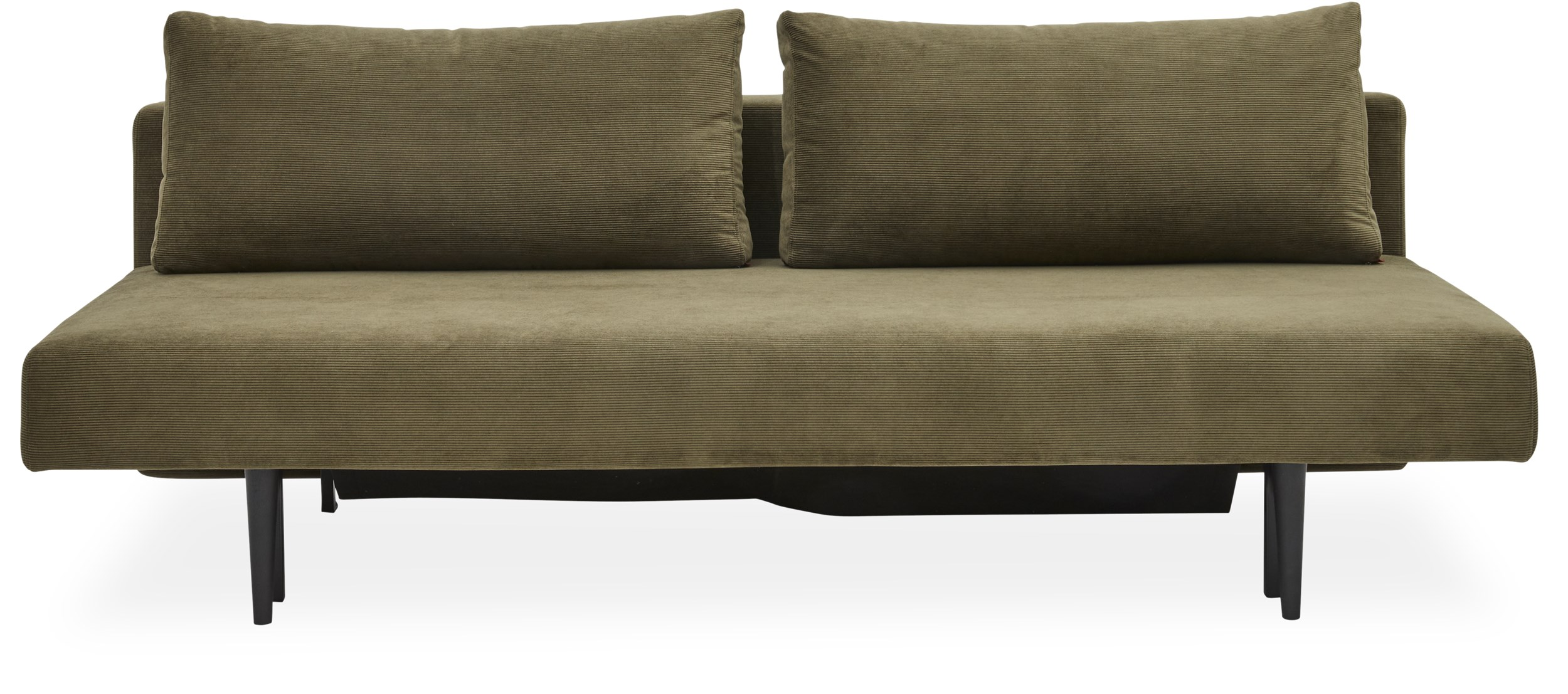 Innovation Living - Laust Sovesofa - Betræk 316 stof, pocketspring madras og sorte træben
