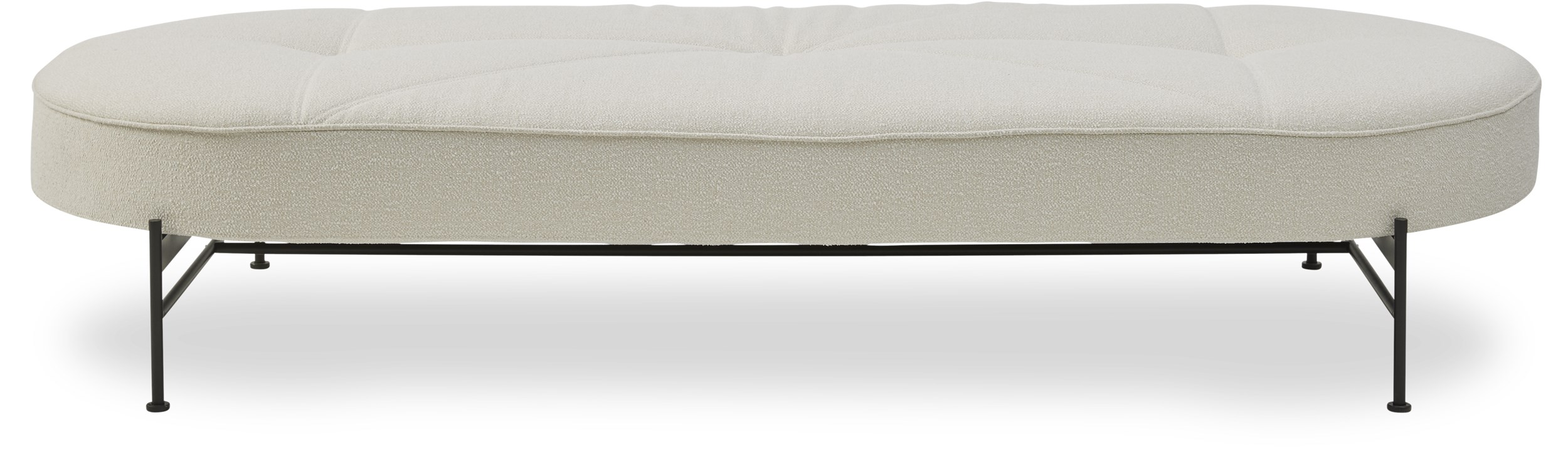 Innovation Living - Linna Daybed - Bouclé 531 Off white og stel i sort metal