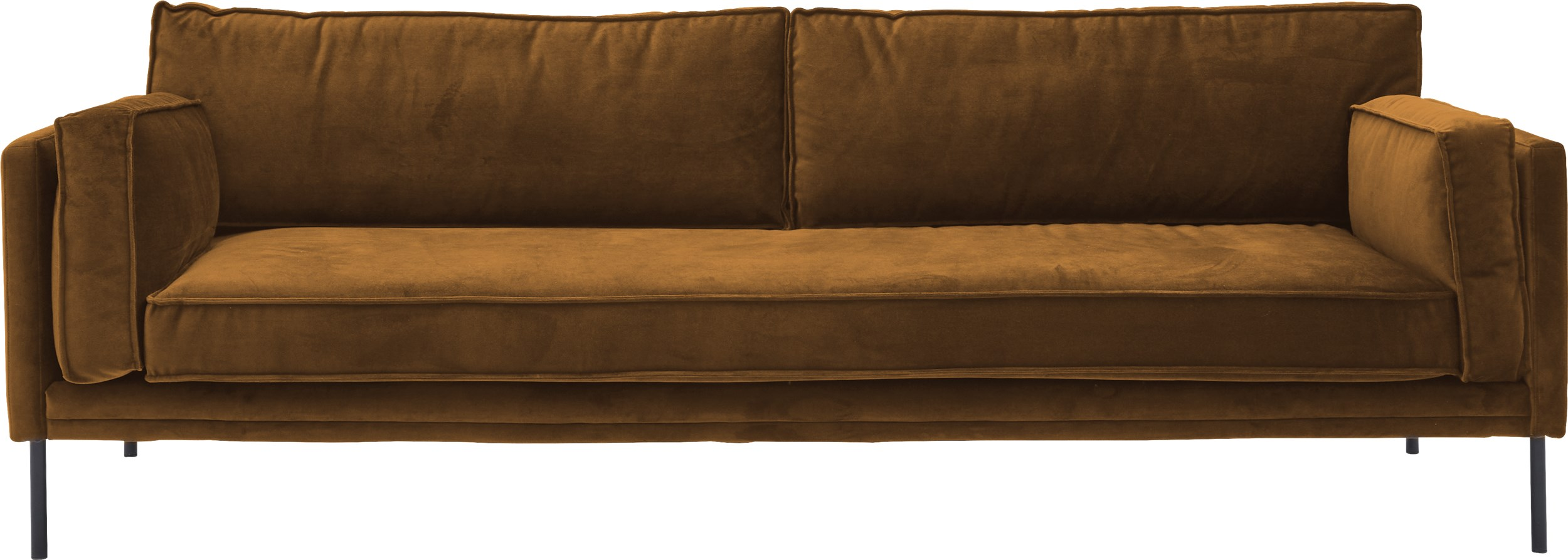 Keep 3 pers Sofa - Toro 6826 Mustard stof og ben i sort metal