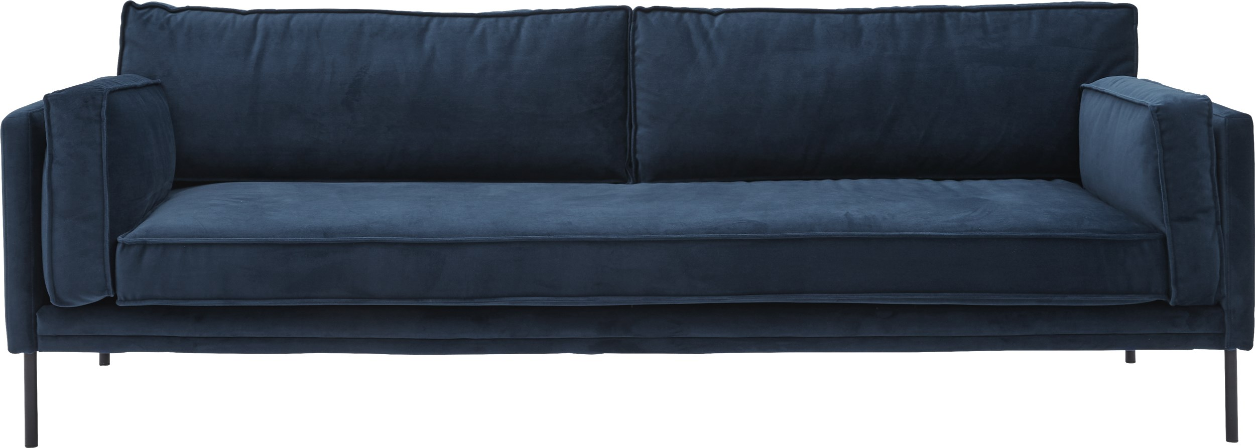 Keep 3 pers Sofa - Toro 6836 Navy stof og ben i sort metal