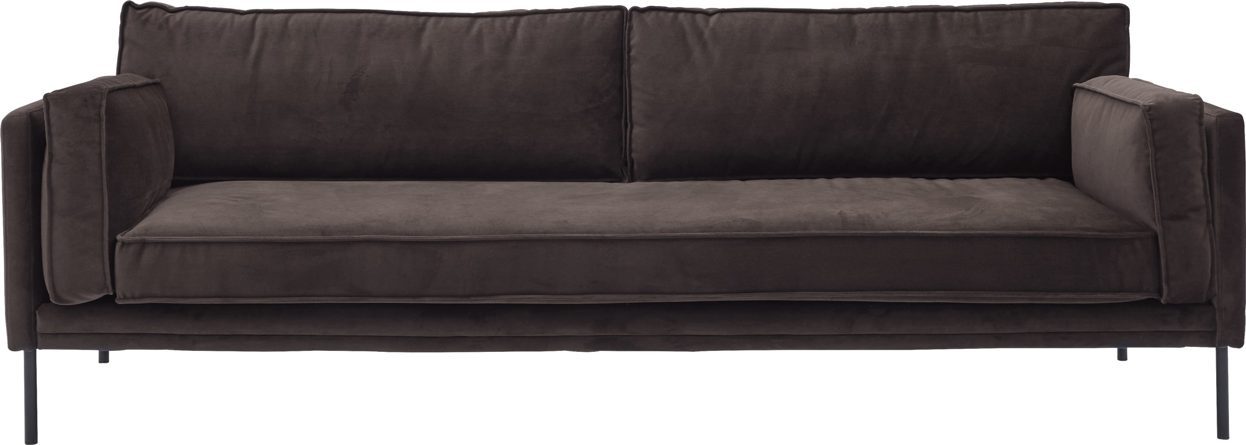 Keep 3 pers Sofa - Toro 6839 Dark Grey stof og ben i sort metal