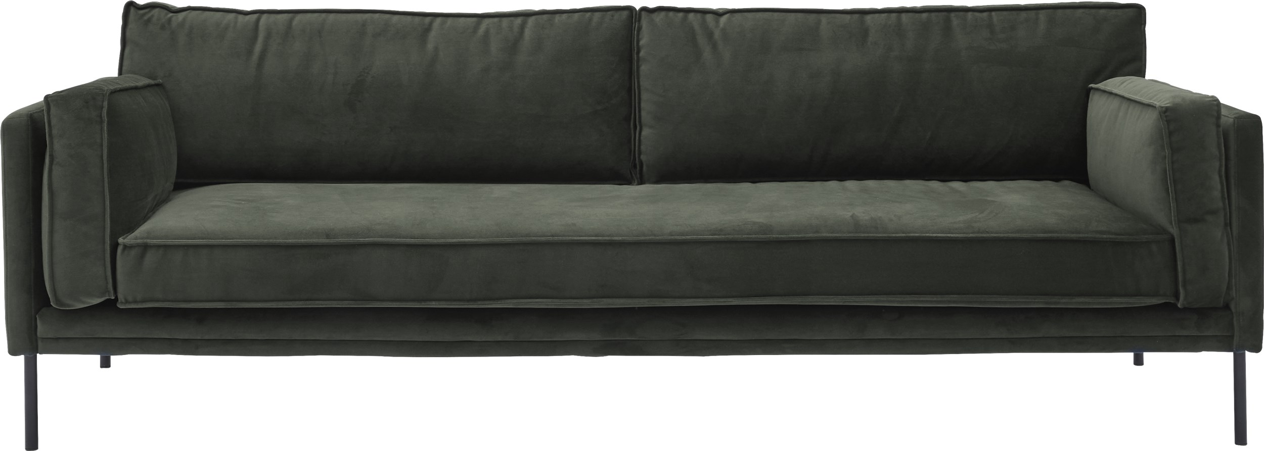 Keep 3 pers Sofa - Toro 6847 Emerald stof og ben i sort metal