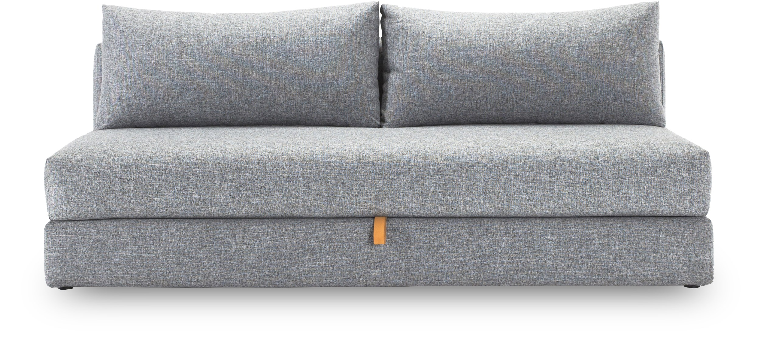 Innovation Living - Osvald de luxe Sovesofa - Twist 565 Granite, pocketspring/hypersoft skummadras og magasin med læderstrop