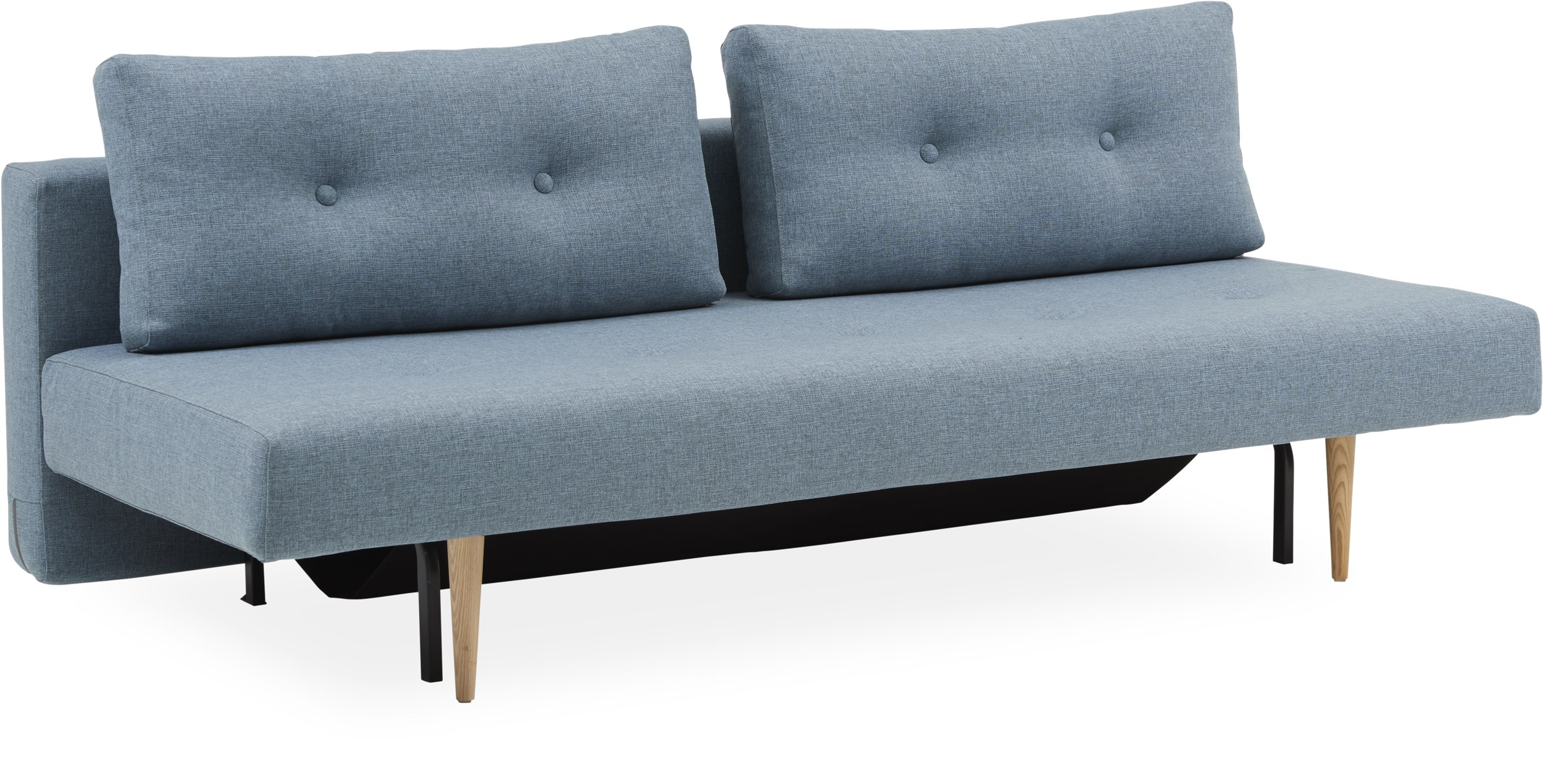 Innovation Living - Recast Plus Sovesofa - Mixed Dance 525 Light Blue og styletto ben i lyst træ