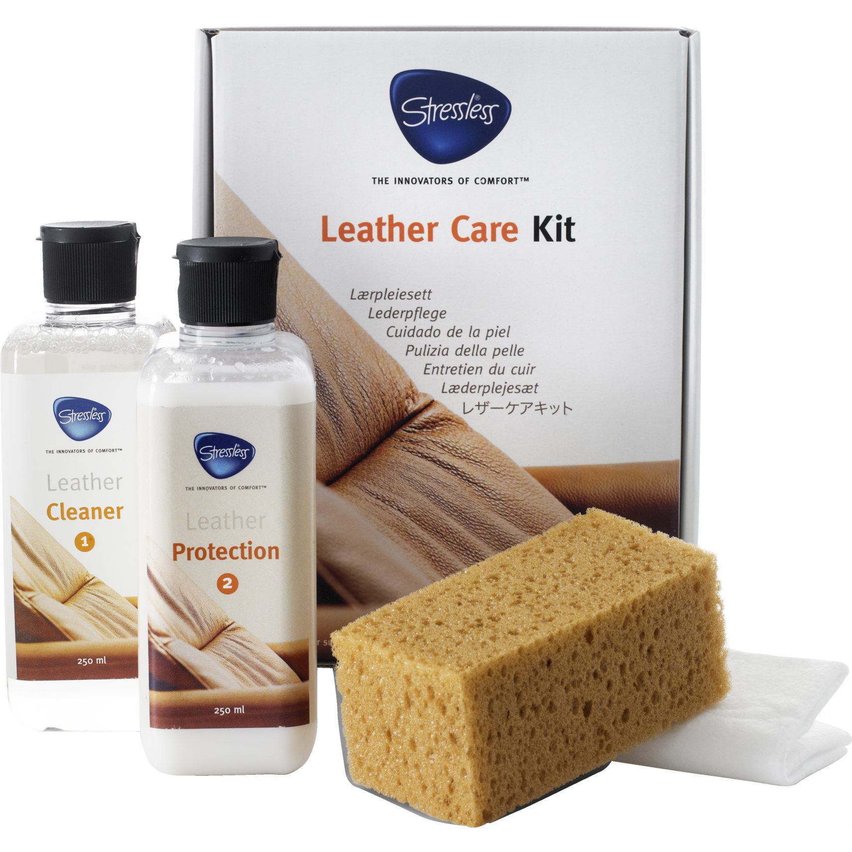 Stressless Læderplejesæt - Leather care kit og 250 milliliter
