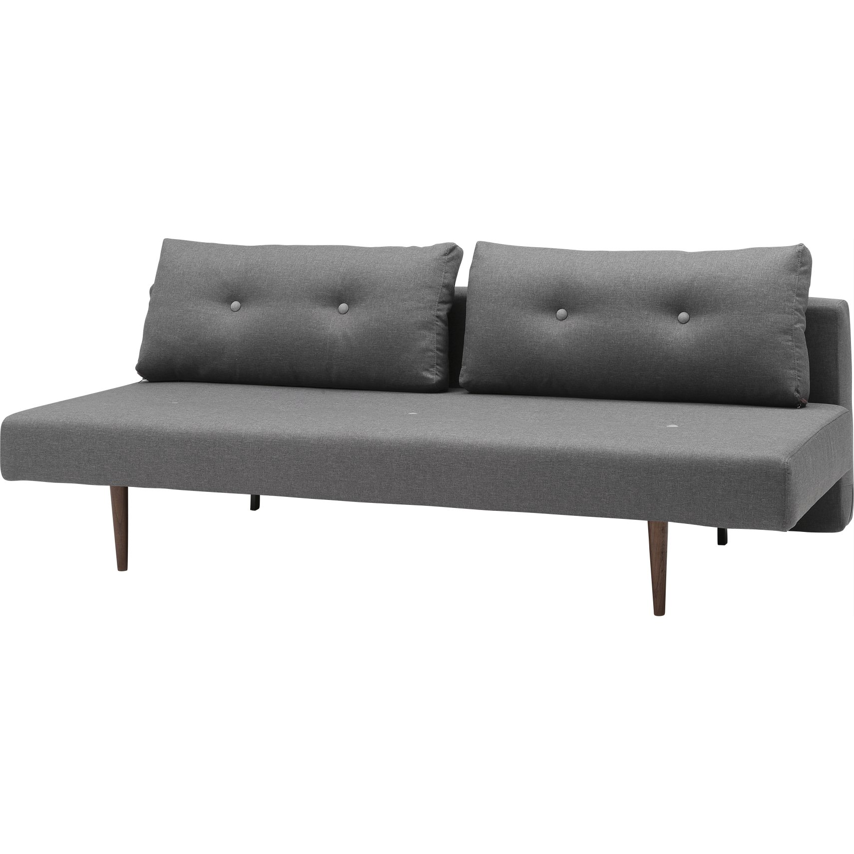 Innovation Living - Recast Plus Sovesofa - Flashtex 216 Dark Grey og mørkt træ